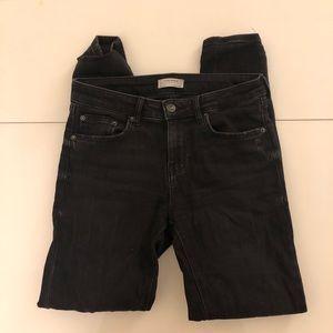 Zara Woman Black high Waisted Skinny Jeans